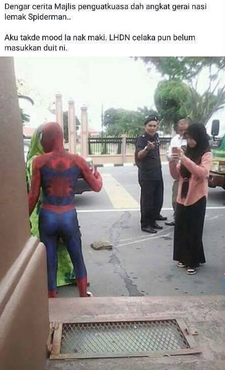 Gerai Spiderman Kena Angkut MPKB, Ini Jawapan Abe Spiderman