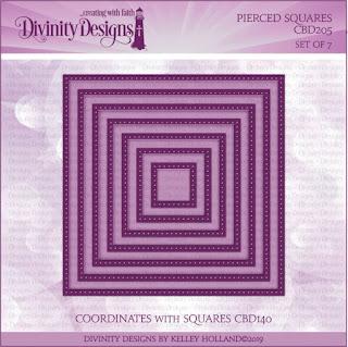 Divinity Designs LLC Custom Pierced Squares Dies