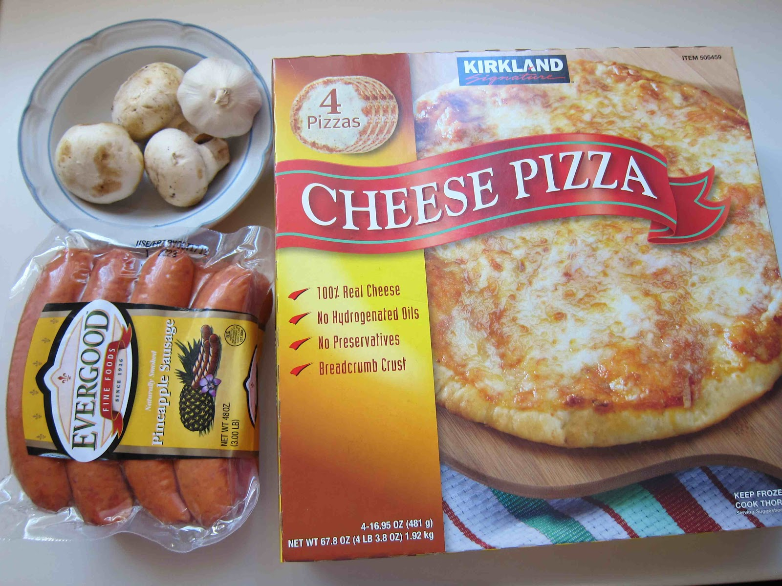 kirkland cheese pizza instructions