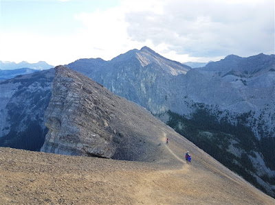 The way down Mount Yamnuska