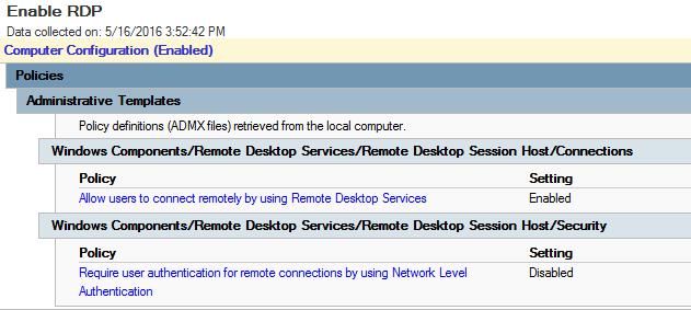 Jim Moldenhauer's Tech Blog: AD 2012 R2 - Enable Remote Desktop