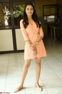 Rukshar Mir in a Peachy Deep Neck Short Dress 129.JPG