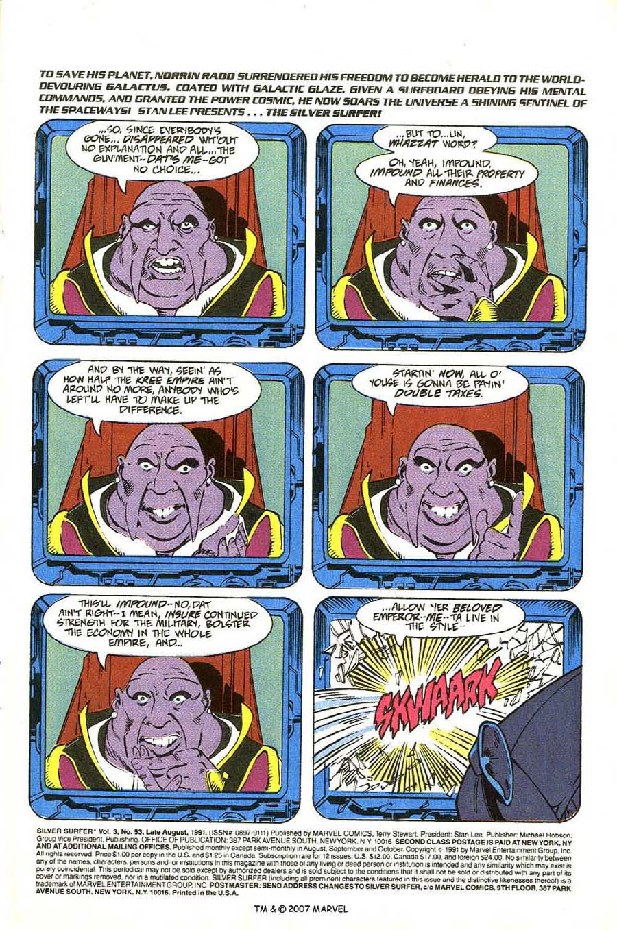 Read online Silver Surfer (1987) comic -  Issue #53 - 3