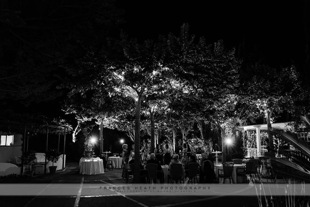 Villa Eva at night
