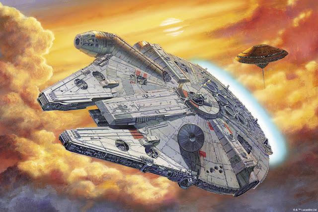 Star Wars millennium falcon tapetti