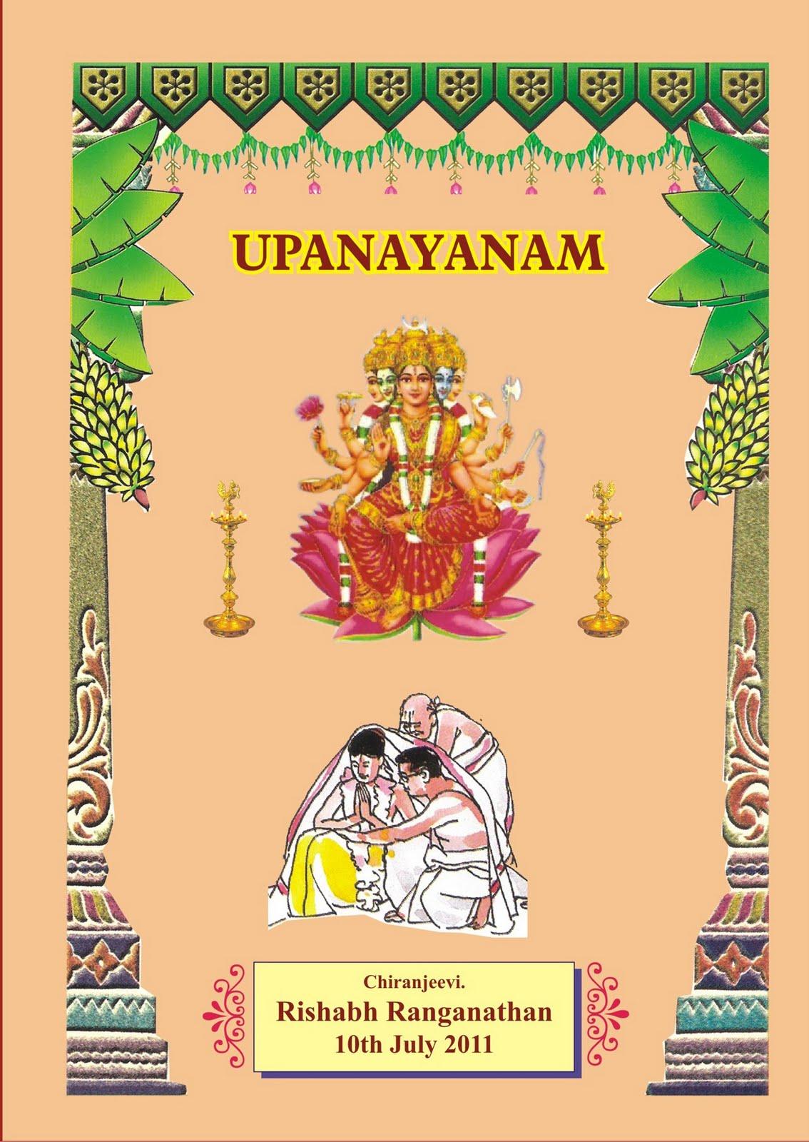 Upanayanam invitation cards paperinvite srividya ranganathan s page invitation for rishabh upanayanam stopboris Images