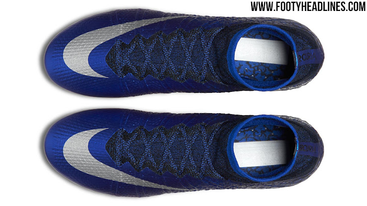 d4f8e397891cc Cristiano Ronaldo s CR7 logo is present on the inner heel of the new Nike  Mercurial Superfly CR soccer cleats in silver.