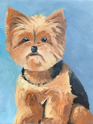 """Tommy"" dog portrait by Denise Cerro"