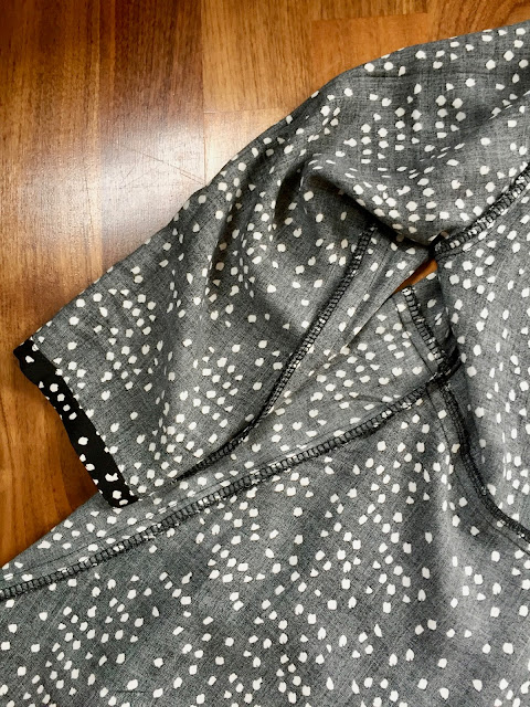 Diary of a Chain Stitcher: Dotty Viscose Sew Over It Nancy Dress