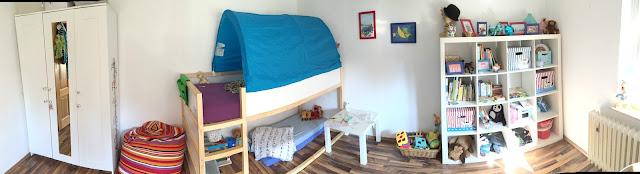 Ordnung im Kinderzimmer - Kallax und Boxen als Aufbewahrung