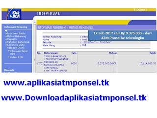 Download aplikasi atm ponsel penghasil uang dengan cepat terbukti menghasilkan 17 Feb dwi cair Rp 9.375.000