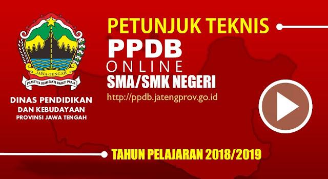 Downlad Juknis PPPDB Online SMA dan SMK Negeri Provinsi Jawa Tengah 2018/2019