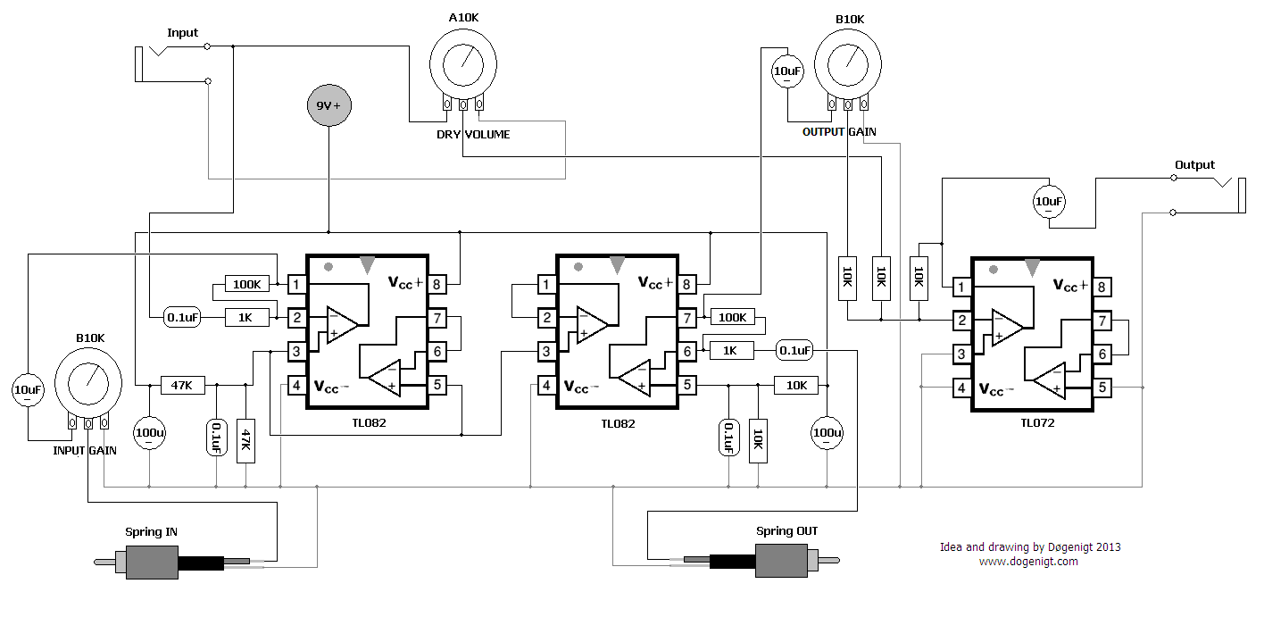 hight resolution of i made this spring reverb circuit on a whim over the weekend and it works but i have questions since i am still learning