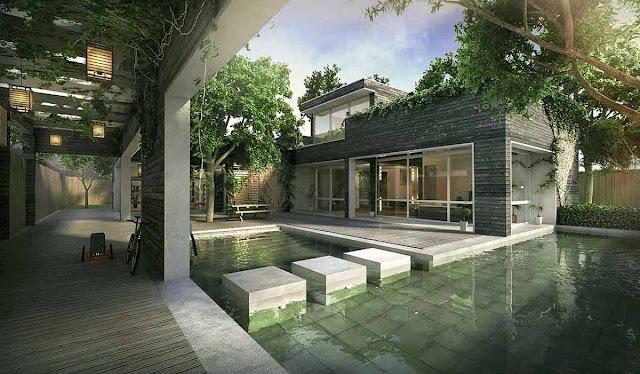Desain 3D Bangunan Rumah Minimalis Yang Mungil