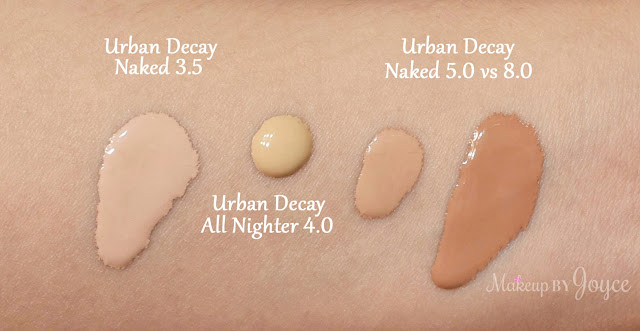 Urban Decay All Nighter Liquid Foundation 4.0 NC35 Swatch