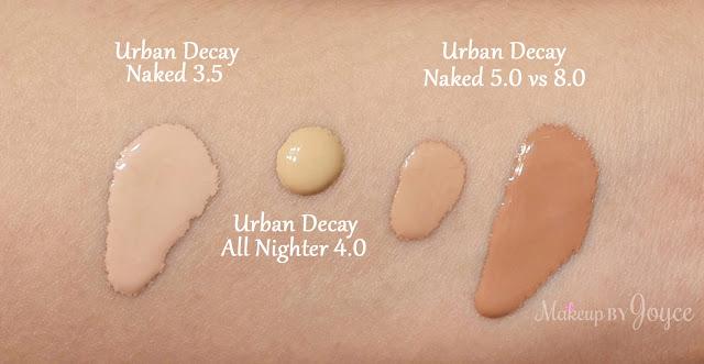 Urban Decay All Nighter Liquid Foundation 4.0 NC35 Swatch