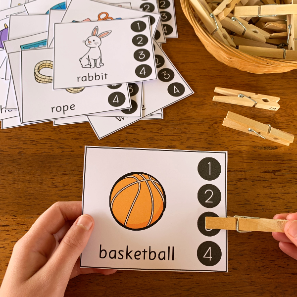 Syllable Clip Cards | you clever monkey