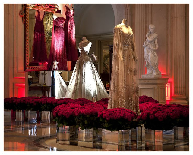 Elie Saab Exhibition at Four Seasons Hotel  George V  in Paris