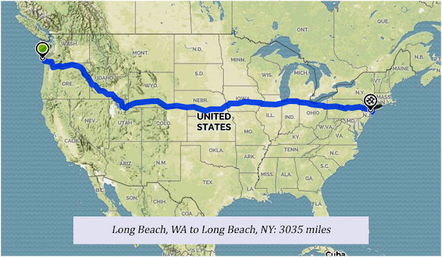 Fat Mom Across America, bike route map