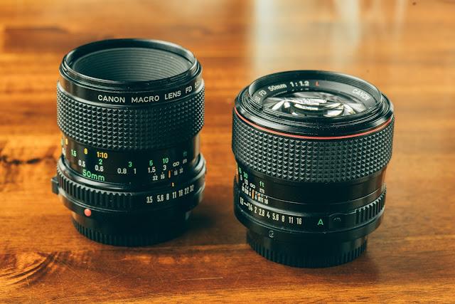 Canon FD 50mm 1:3.5 Macro & Canon FD 50mm 1:1.2L