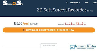 Giveaway : ZD Soft Screen Recorder gratuit (3 jours) !