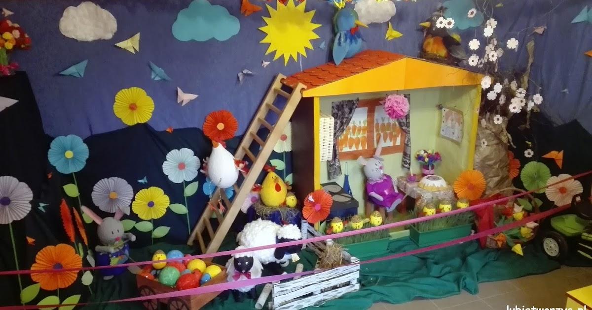 Lubię Tworzyć: Wiosenna dekoracja przedszkolnej szatni