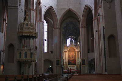 Inside the cathedral of Turku