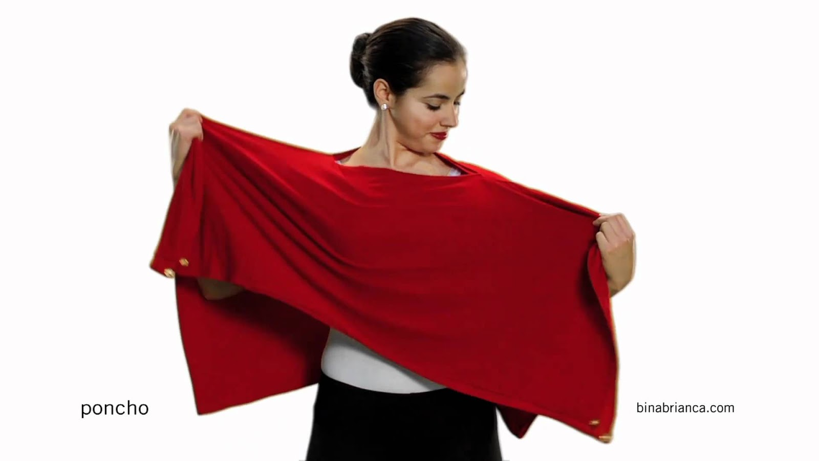 Poncho Bina Brianca. Transformable
