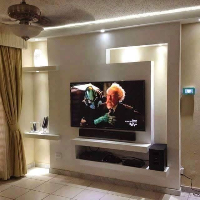 Wall Decor Gypsum : Tv wall units made with gypsum board if you looking