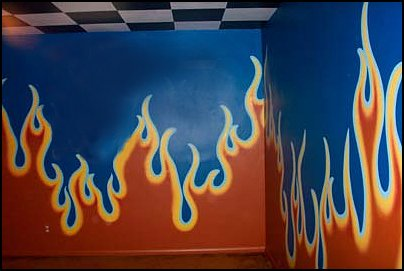 flames walls flame theme bedrooms