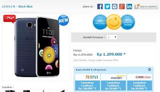Harga Terbaru LG K4 LTE Android Murah