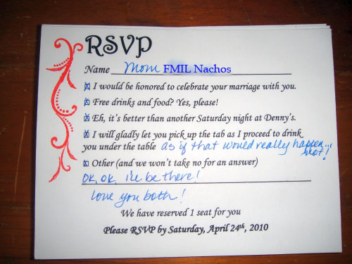 Wedding Reception Invitation Wording Funny: Tales Of A Tech-Savvy Wife: Fun R.S.V.P. Wording?
