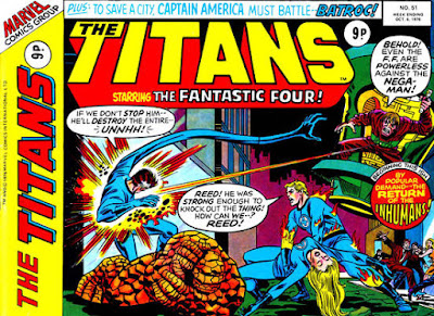 Marvel UK, The Titans #51, Fantastic Four vs the Nega-Man