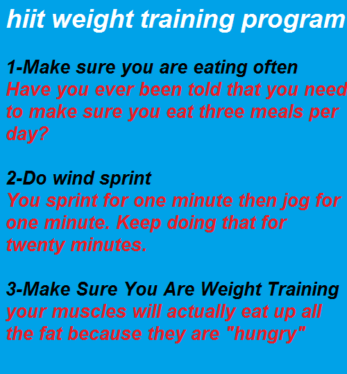 hiit Weight training