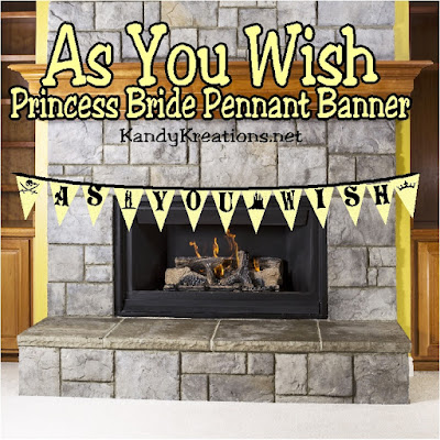 """As You Wish"" is probably one of the most romantic movie quotes of all time.  The Princess Bride has so many fun quotes but telling someone ""As You Wish"" is the best way to start a party and decorate for a Princess Bride movie night.  Download and print this banner tonight and ""have fun storming the castle!"""
