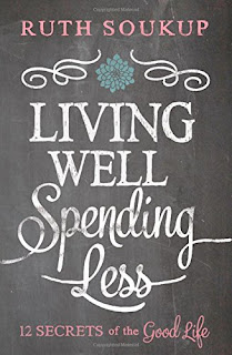 http://www.amazon.com/Living-Well-Spending-Less-Secrets/dp/0310337674/ref=sr_1_1?s=books&ie=UTF8&qid=1443932758&sr=1-1&keywords=living+well+spending+less