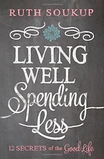 http://www.amazon.com/Living-Well-Spending-Less-Secrets/dp/0310337674/ref=sr_1_1?s=books&ie=UTF8&qid=1443932758&sr=1-1&keywords=living+well+spending+less