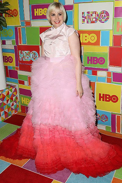 Lena Dunham at the after party Emmy