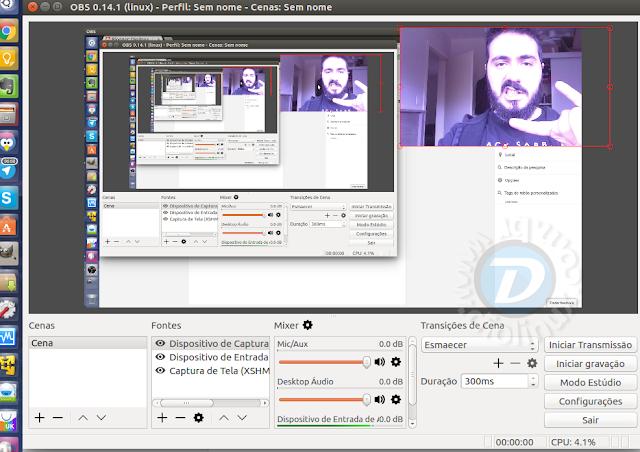 Como instalar o Open Broadcaster no Ubuntu 16.04 LTS