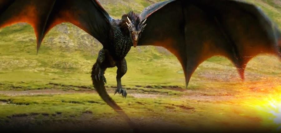 Drogon la maturitate în Sezonul 4 Urzeala Tronurilor
