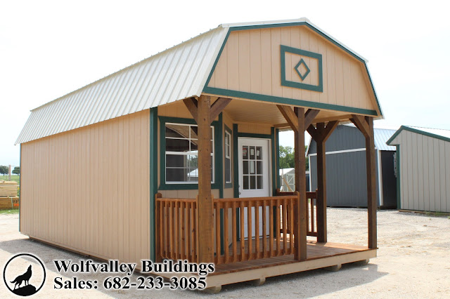 Portable Building 12x28 Deluxe Lofted Cabin Shell