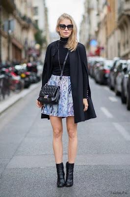 Faldas con Botas Cortas