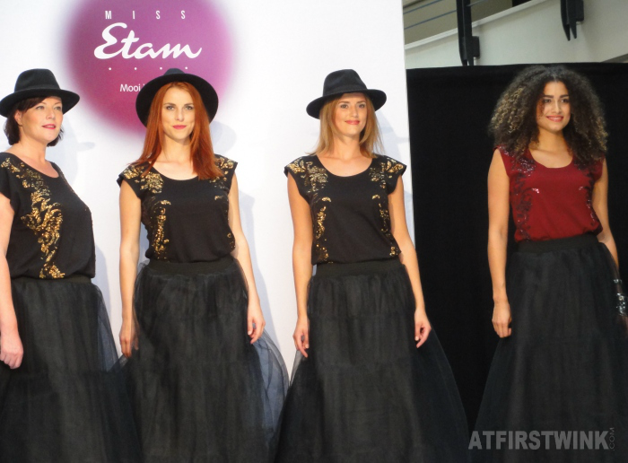 Miss Etam Fall/Winter 2014 fashion show - black tule maxi skirts