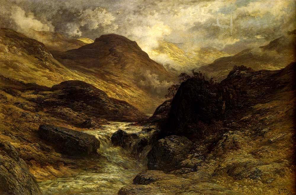 Desfiladeiro nas Montanhas - Gustav Doré e suas pinturas ~ Pintor, desenhista e inlustrador francês