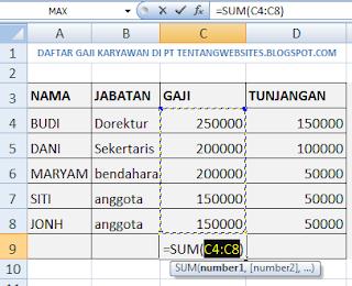 Cara Menjumlahkan Angka otomatis di Microsoft Excel