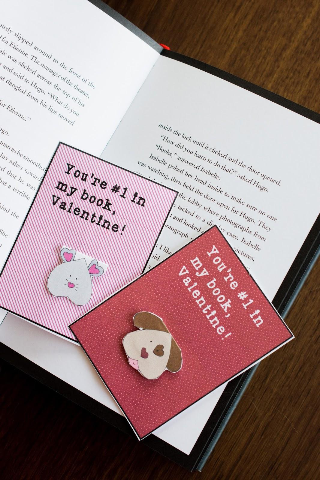 snugglebug university  magnetic bookmark valentines  free