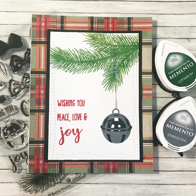 Sunny Studio Stamps: Holiday Style Silver Bells Customer Card Share by Cher Marsino
