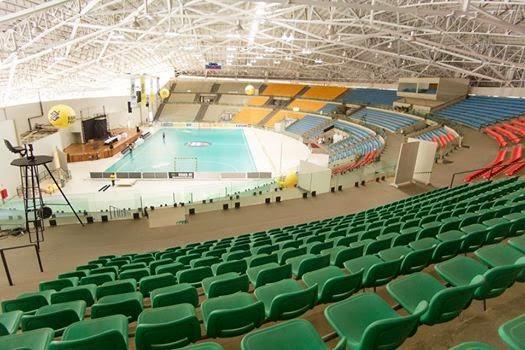 Gimnasio en Aparecida, sede de las finales de la liga Brasileña