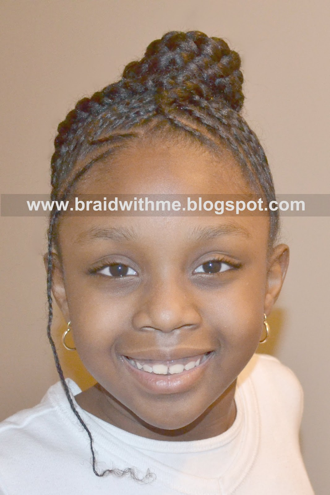 Braided Amp Protected  Protective Hair Style On Childs Natural Hair