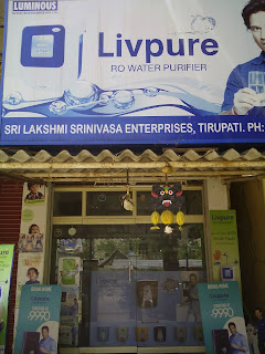 Laxmi Srinivasa Enterprises Ro water purifier delers in tirupati